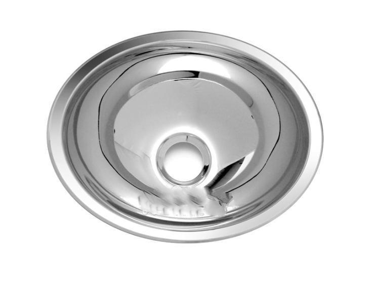 Waschbecken Edelstahl waschbecken oval edelstahl 340 x 270 x 120 mm