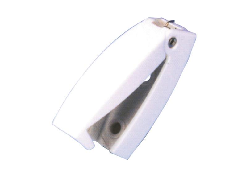 Klappenhalter / Türhalter Kunststoff - weiß