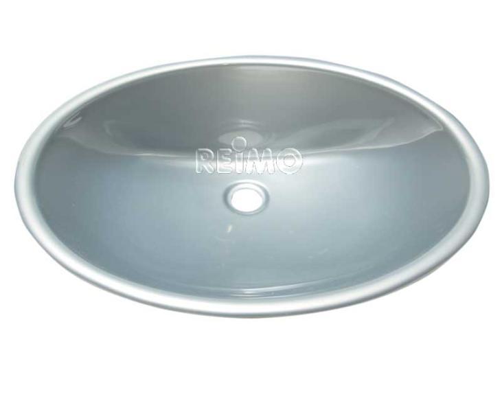 waschbecken  oval  kunststoff  450 x 335 x 145mm